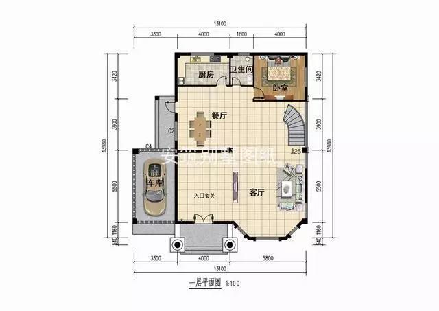 农村四间房屋设计图及效果图 自建房建筑设计图纸公司