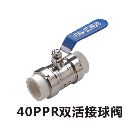 40PPR雙活接球閥