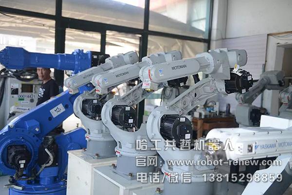 二手安川机器人视觉技术弹条搬运系统应用