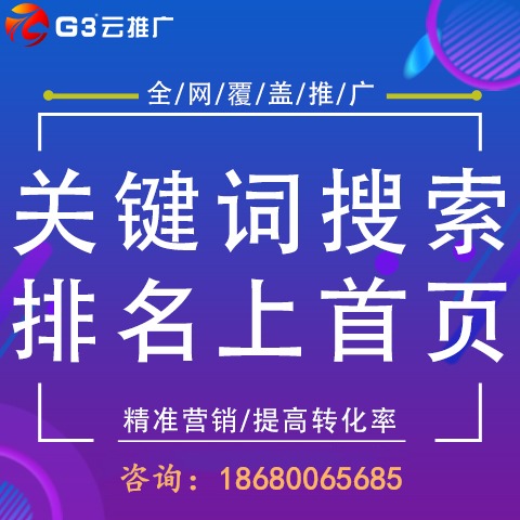G3云推廣全網營銷 關鍵詞上首頁 視頻營銷