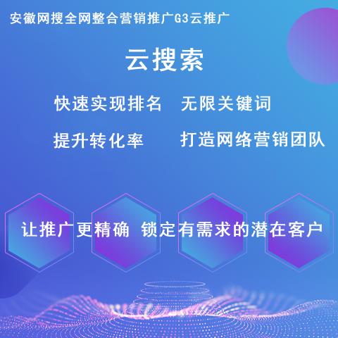 云搜索-安徽網搜網站推廣-網站優化-關鍵詞排名
